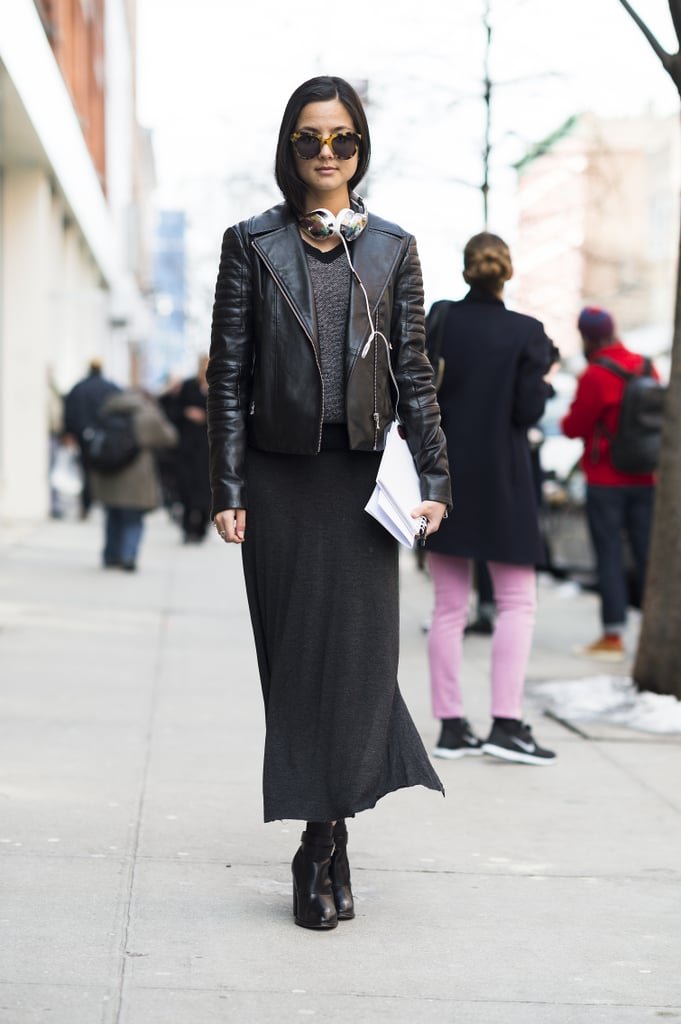 Edgy and understated with easy silhouettes and staple booties. Source: Le 21ème | Adam Katz Sinding