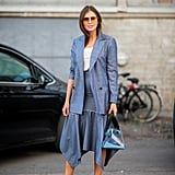 Make a Skirt Suit Contemporary With Fresh Proportions
