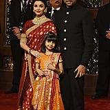 Aishwarya Rai Bachchan Also Showed Up Wearing a Red Sari