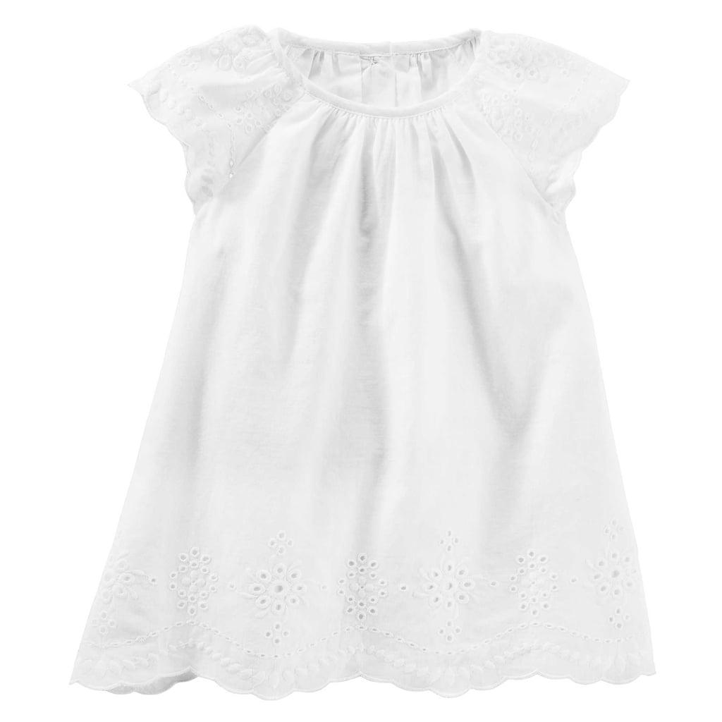 Oshkosh Baby B'Gosh 2-Piece Eyelet Dress in White