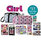 Total Girl Showbag ($17) Includes:  Barrel bag  Squinkies Do Drops collector pack  DIY Slime Kit