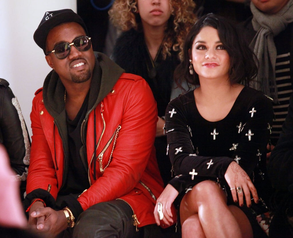 Kanye West and Vanessa Hudgens were together at Jeremy Scott in September 2011.