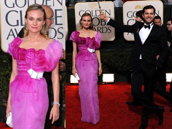 Photos of Diane Kruger and Joshua Jackson on the Red Carpet at the 2010 Golden Globe Awards