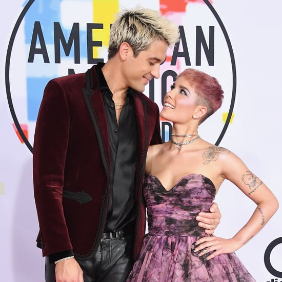 Halsey and G-Eazy at the 2018 American Music Awards