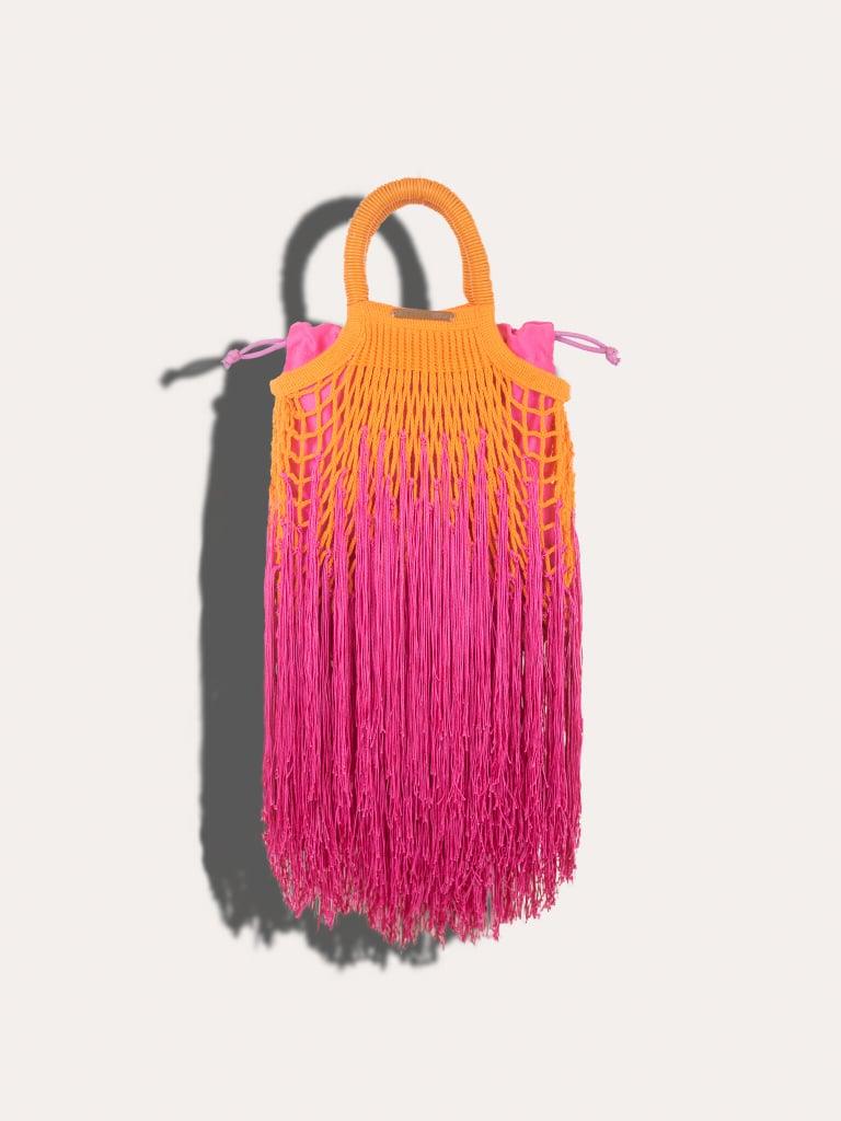 Petit Kouraj Mini Fringe Hibiscos Bag