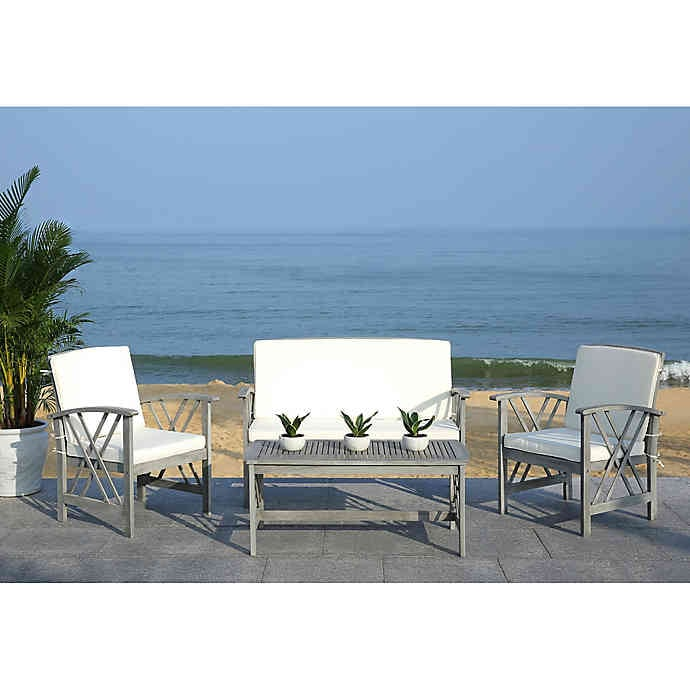 Bed Bath & Beyond Safavieh Fontana 4-Piece Patio Furniture Set