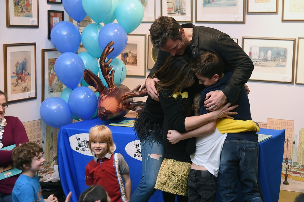Could Peter Hermann's family be any cuter? On Saturday, the handsome Younger actor had the support of his loved ones as he attended the launch of his children's book, If the S in Moose Comes Loose, at Books of Wonder in NYC. Aside from posing with his wife Mariska Hargitay, the longtime couple had an adorable moment with their three children, August, Amaya, and Andrew, as they shared a group hug. Seriously, it's almost as precious as their recent family game night.  Plus, a few of Peter's famous friends stopped by for the special occasion. Not only did he goof off with Brooke Shields and Mariska as they posed with his book, but he also met up with his Younger costar Sutton Foster, who brought her husband Ted Griffin and their daughter Emily to the event. If you need us, we'll just be swooning over these sweet pictures.       Related:                                                                                                           The Cutest Pictures of Peter Hermann and Mariska Hargitay's Family of 5