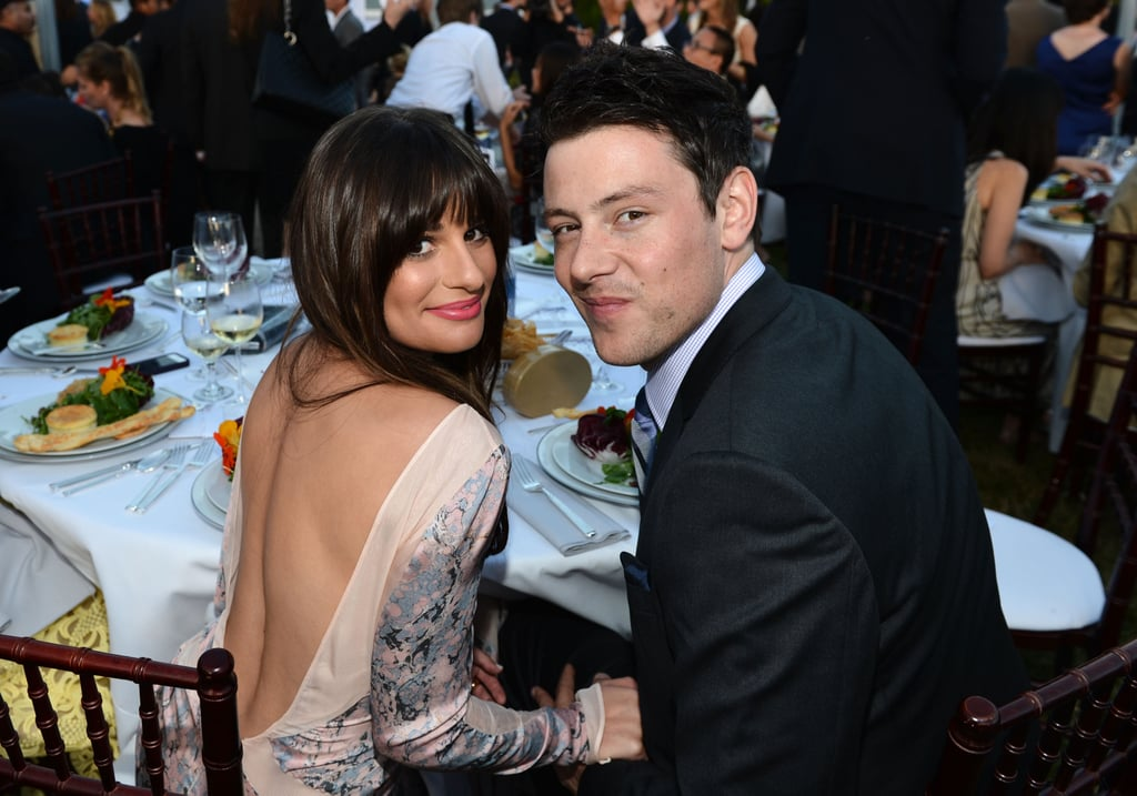Lea Michele and boyfriend Cory Monteith attended the Butterfly Ball in LA.