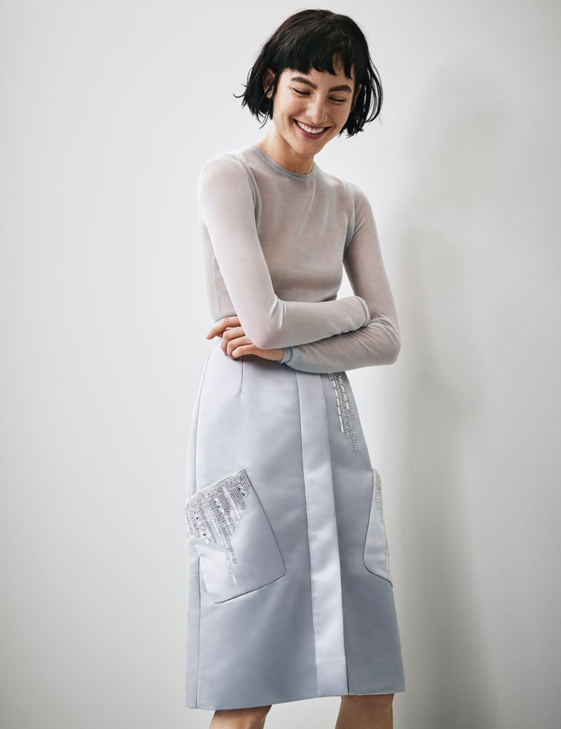 H&M Conscious Collection Beaded Satin Skirt ($129)