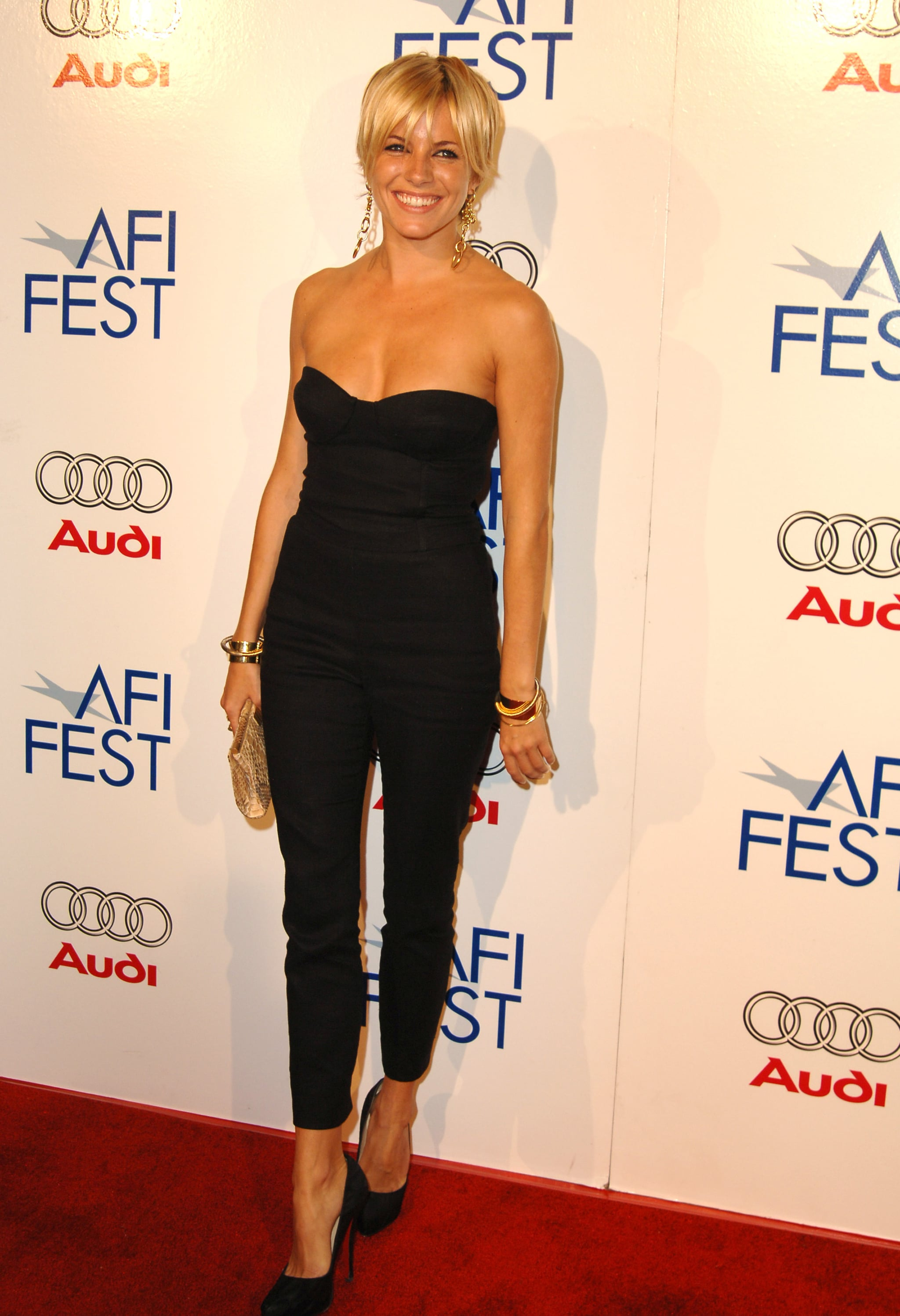 Sienna went with a jumpsuit and shorter hair in 2005.