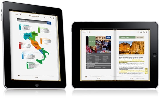 Lonely Planet iPad Travel Guides