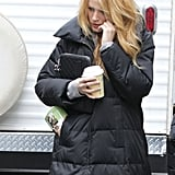 Blake carried a quilted Chanel iPad case.