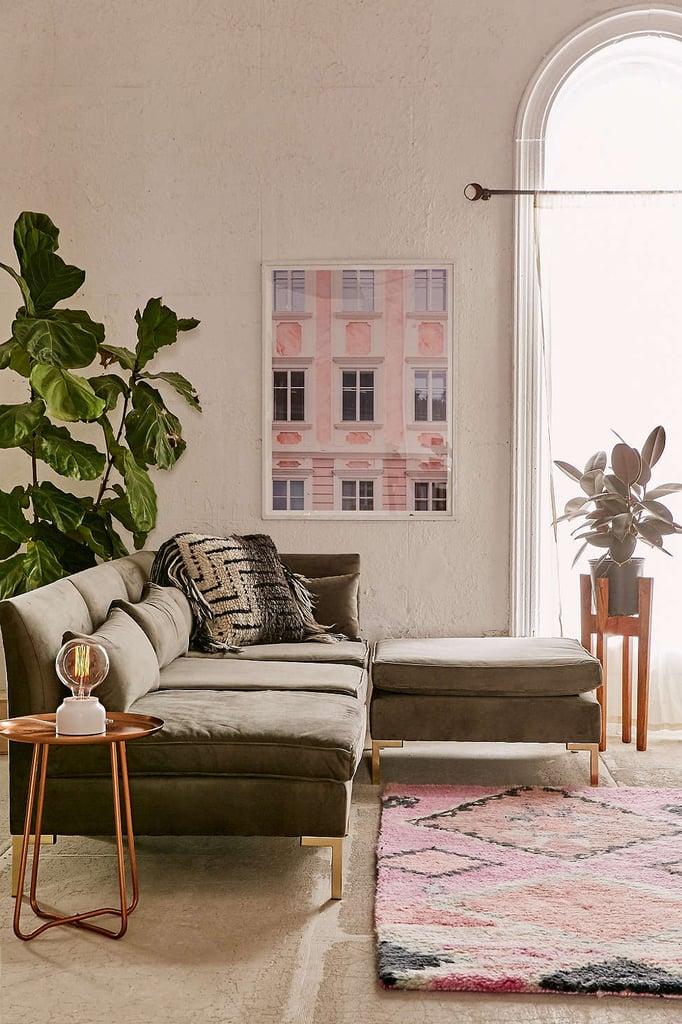 Cecilia Velvet Sectional Sofa ($1,898)