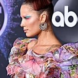 Halsey's Watercolor Makeup at the American Music Awards 2019