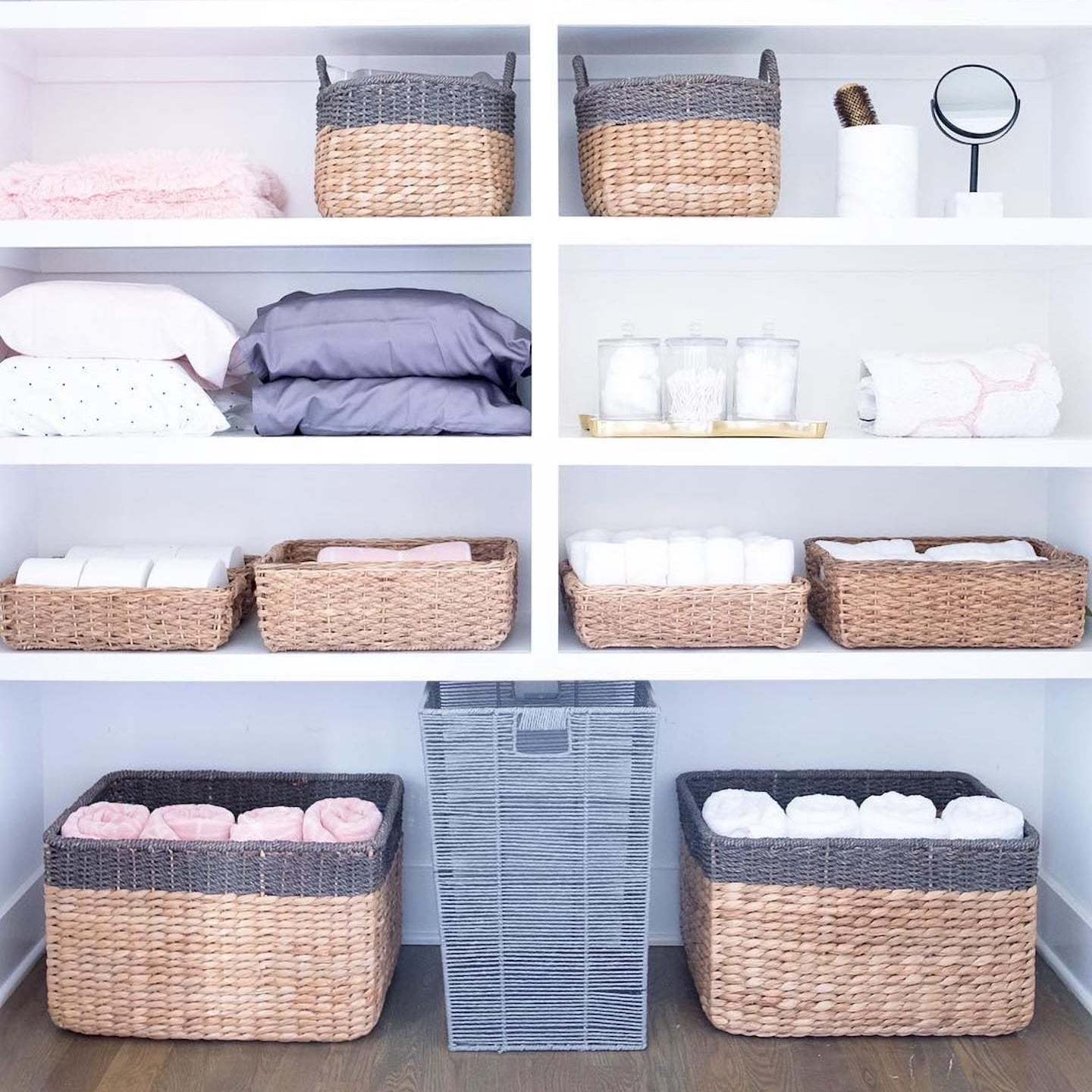 and Home Office Toy Shelf Organizer Home Zone Living Storage Basket for Nursery Rectangular, Single Pack