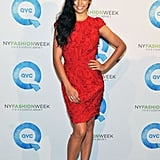 Camila Alves showing off her engagement ring.