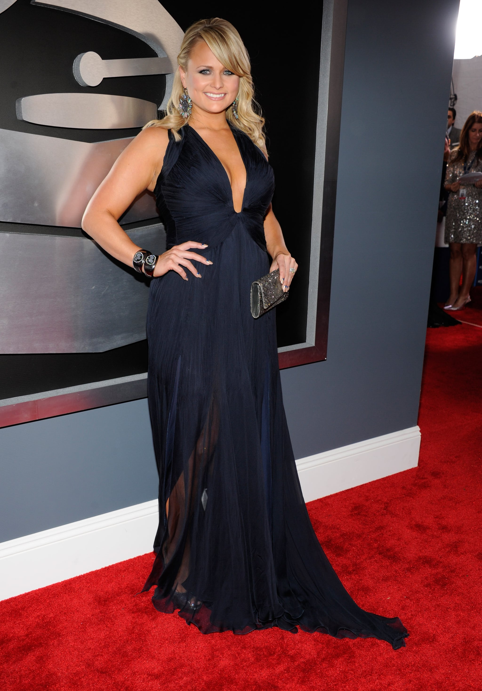 Performer Miranda Lambert hit the red carpet before the show.