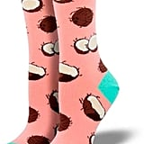 The bright color of these socks will bring back Summer memories, even in the middle of Winter.  Pink Penguin Pink Coconut Socks ($8)