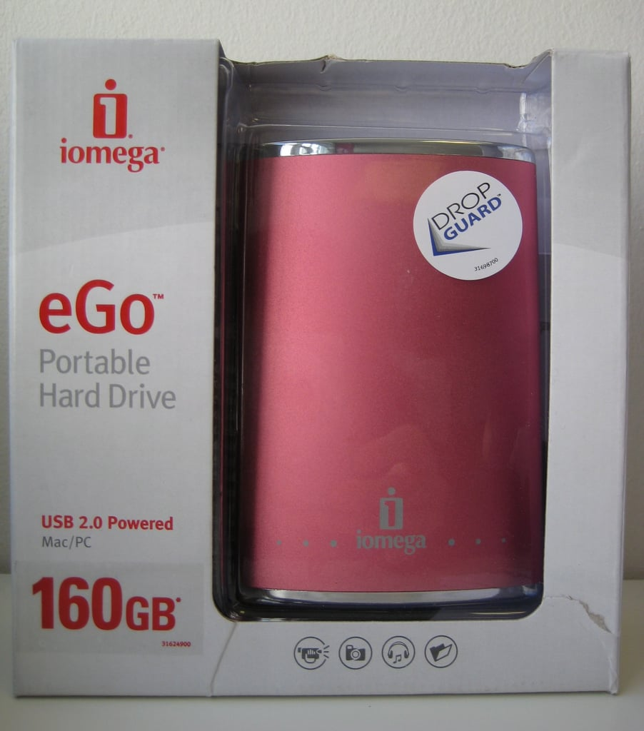 Flask Style Pink Portable Hard Drive by Iomega