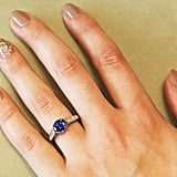 1.49 Carat Sapphire and Diamond Vintage Style Engagement Ring ($4,750)