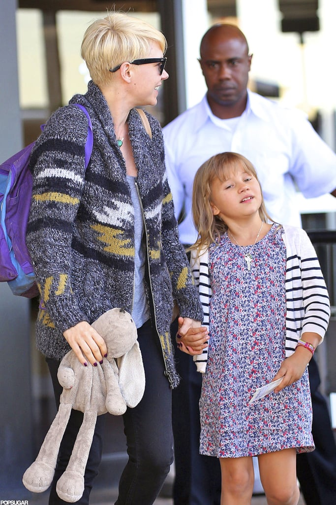 Michelle Williams carried a stuffed bunny and held hands with Matilda Ledger in NYC.