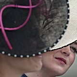 The ladies wore fascinators at the first day of the Epsom Derby.