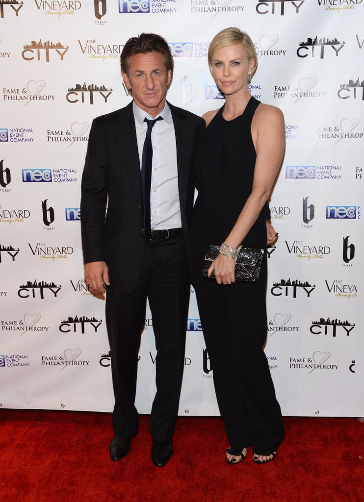 Charlize Theron linked up with Sean Penn at the Fame and Philanthropy Post-Oscar Party.