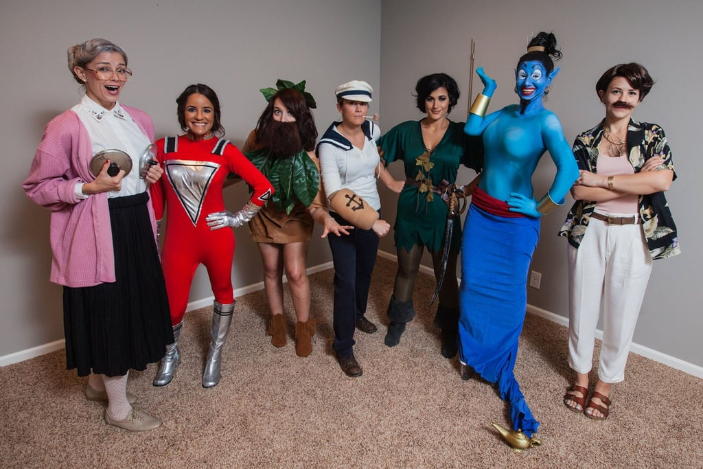 This year, the girls tackled the many characters of Robin Williams: Mrs. Doubtfire, Mork from Mork & Mindy, Alan Parrish from Jumanji, Popeye, Peter Banning from Hook, Genie from Aladdin, and Armand Goldman from The Birdcage.