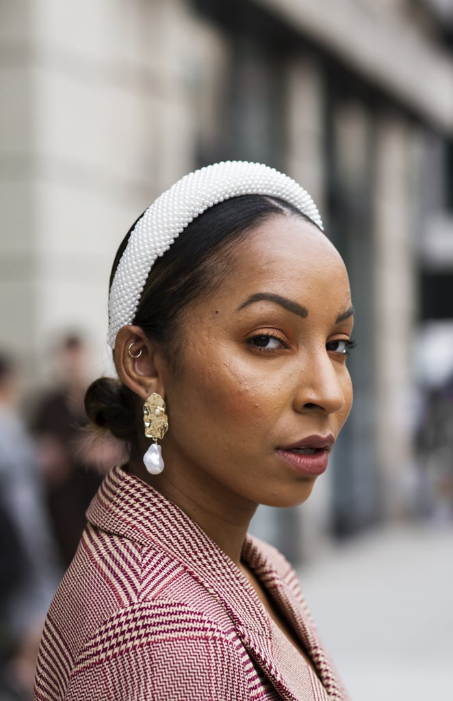 Trend Inspiration: Pearl Headband and Low Bun