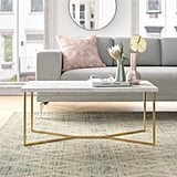 Devito Cross Legs Coffee Table With Storage