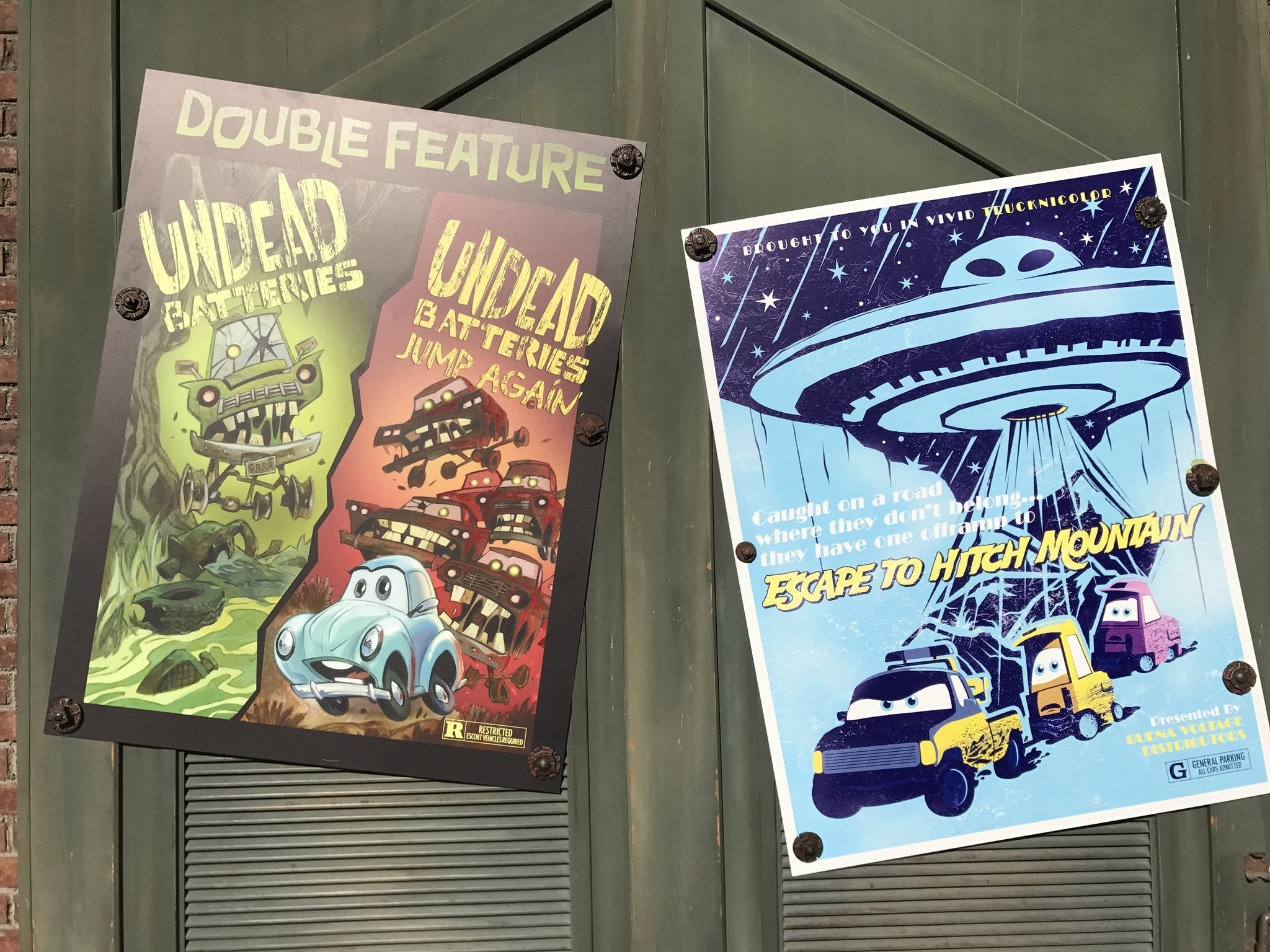 Halloween Movie Posters Are Hung Around Cars Land 45 Festive