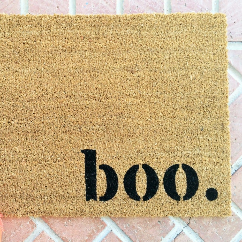 halloween doormats | popsugar home