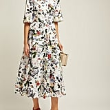 Kaiya Edith-Print Cotton-Poplin Midi Dress