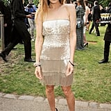 A gilded Sarah Jessica Parker sparkled at the Serpentine Gallery Summer Party in London.