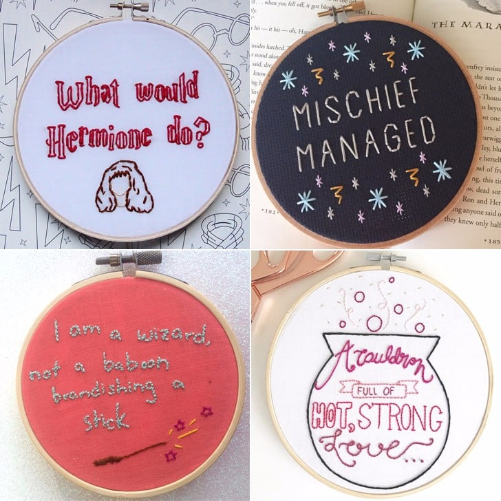 Harry Potter Embroidery Hoops