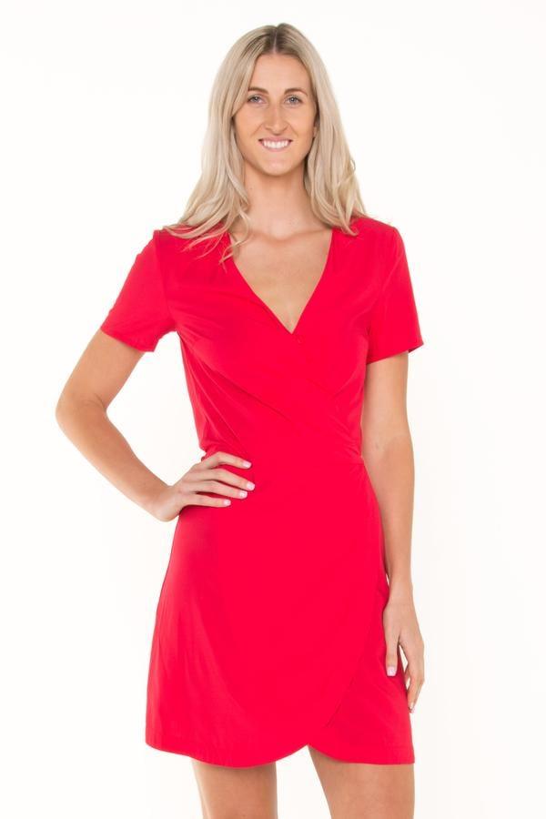 Racy Red Wrap Dress