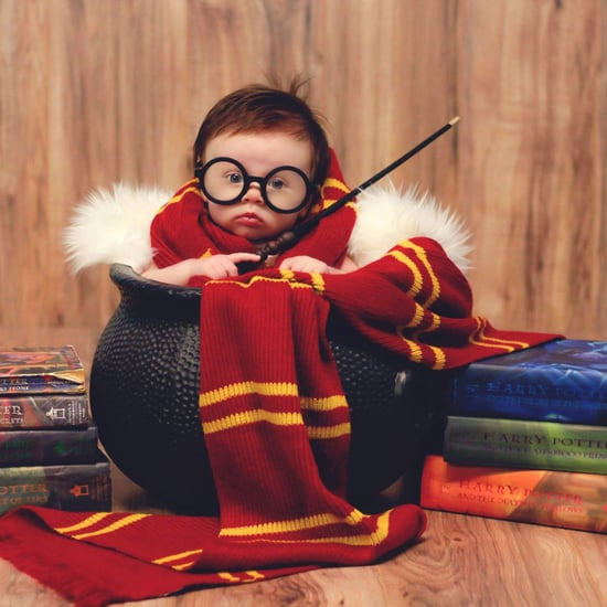 Newborn Harry Potter Baby Photo Shoot