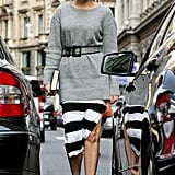 Add a belt to your Winter knitwear at night, it will transform your jumper  into the perfect evening piece.