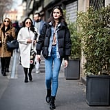 Winter Outfit Idea: A Classic Puffer and Denim on Denim