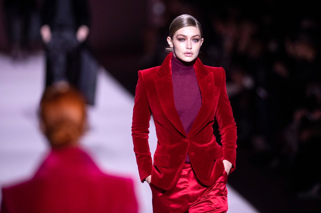 Gigi Hadid on the Tom Ford Fall 2019 Runway
