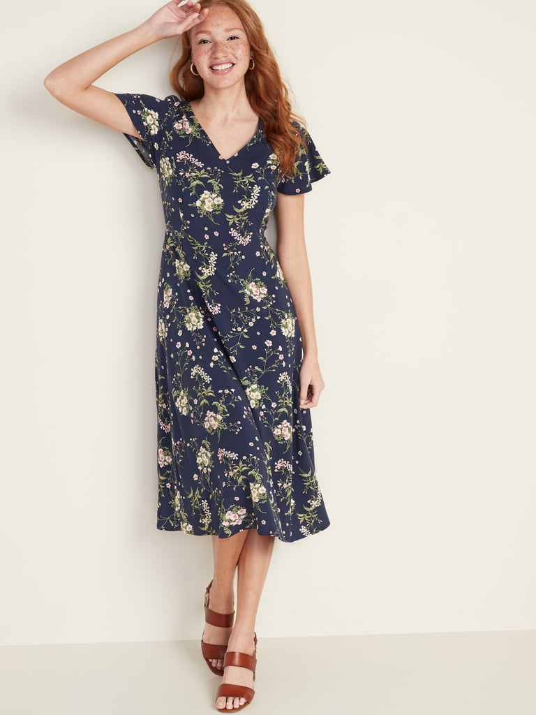 Old Navy Fit & Flare V-Neck Midi Dress