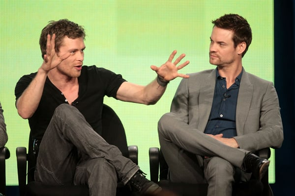 Joseph Morgan and Shane West