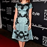 Jessica Chastain hit the red carpet at the HFPA/InStyle party at TIFF.