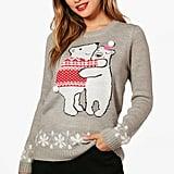 Boohoo Jennifer Pom Pom Christmas Jumper