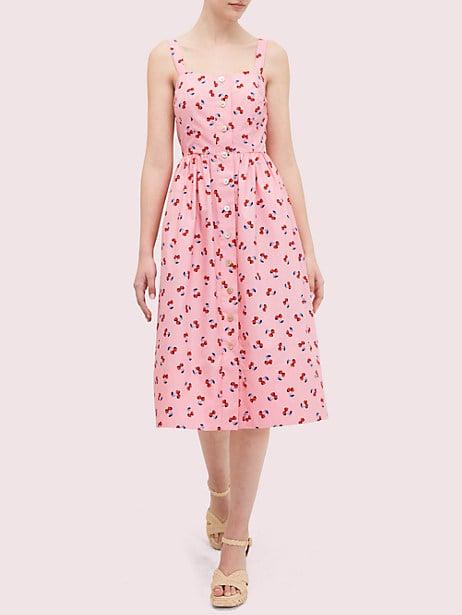 Cherry Toss Poplin Dress
