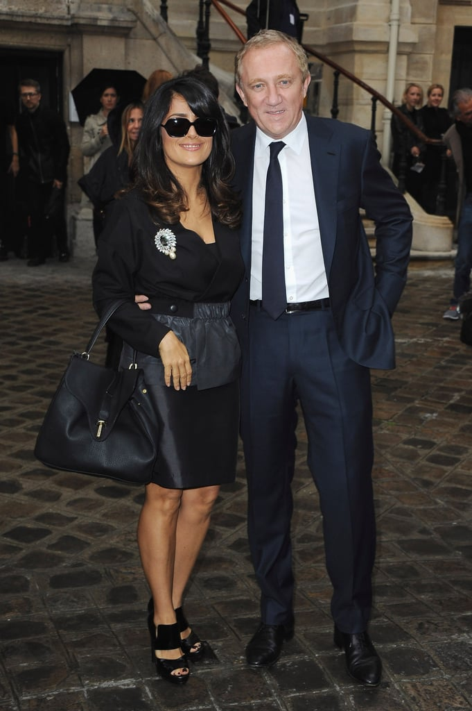 Salma Hayek had her husband, Francois-Henri Pinault, by her side.
