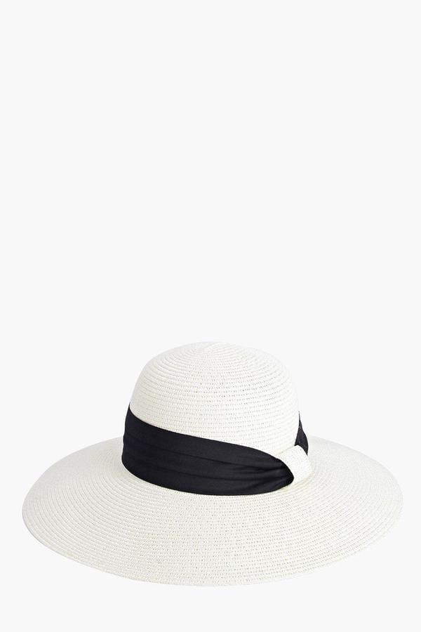 c6c58d0b Boohoo Anna Floppy Hat With Band Trim ($14) | Summer Hats | POPSUGAR ...