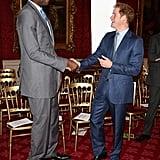 Harry and Dikembe Mutombo