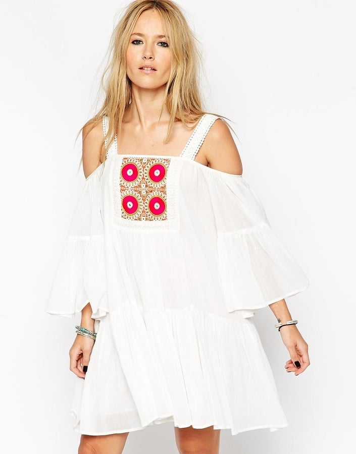 ASOS COLLECTION ASOS Premium Sundress with Embroidery and Mirror Trim