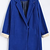 Rosewholesale Lapel Wool Blend Coat